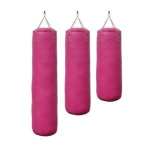 een roze bokszak met luxe uitstraling