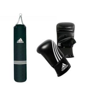 Adidas bundel met een bokszak 120 cm en zakhandschoenen