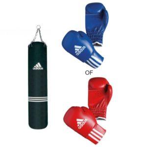 Adidas bundel bokszak met kinder bokshandschoenen