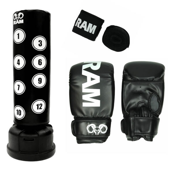ram fighting gear bundel o xl elite handschoenen en bandages