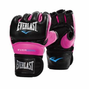 Everlast everstrike mma training handschoen zwart/roze