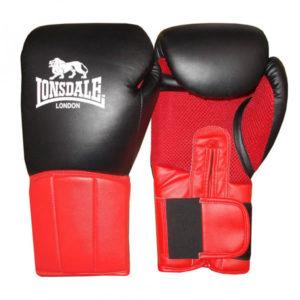 Lonsdale Performer (kick)bokshandschoen zwart/rood