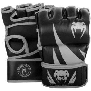 Zwart grijze mma handschoenen van Venum Challenger.