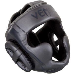 Grijze hoofdbeschermer van Venum Elite.