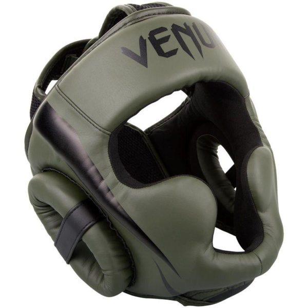 Groene hoofdbeschermer van Venum Elite.