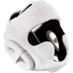 Wit hoofdbeschermer van Venum Elite.