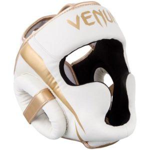 Wit gouden hoofdbeschermer van Venum Elite