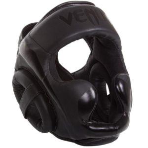Zwart hoofdbeschermer van Venum Elite.