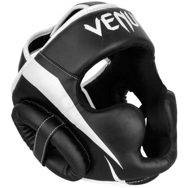 Zwart wit hoofdbeschermer van Venum Elite.