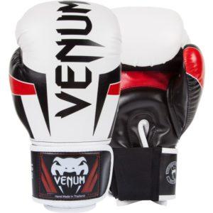 Ice zwart rode (kick)bokshandschoenen van Venum ELite.