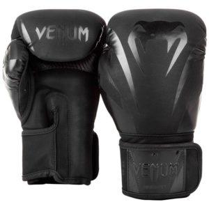 Zwarte (kick)bokshandschoenen van Venum Imact