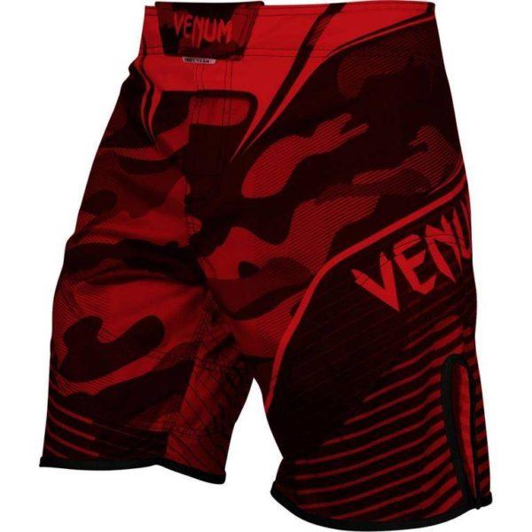 Zwart rood mma fightshort Venum camo hero.