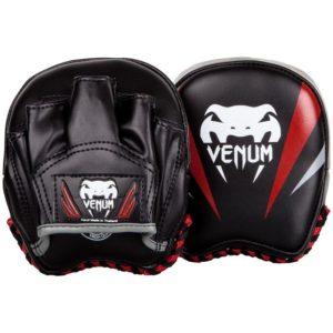 Zwart rode mini punch mitts van Venum elite.