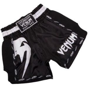 Zwart wit thai- en kickboks broekje van Venum giant.