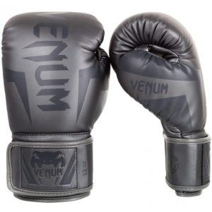 grijze (kick)bokshandschoenen van Venum Elite