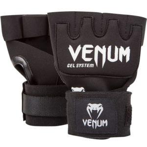 Zwart witte binnenhandschoenen met gel en wraps van Venum.