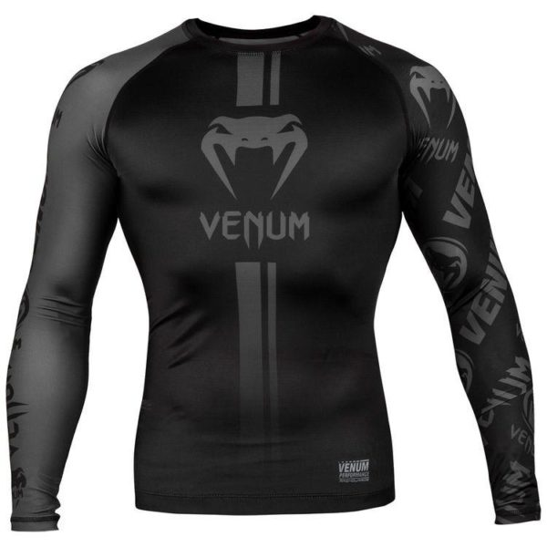 Zwarte rashguard long sleeves van Venum logos.