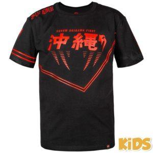 Zwart rood t-shirt voor kids van Venum okinawa 2.0.