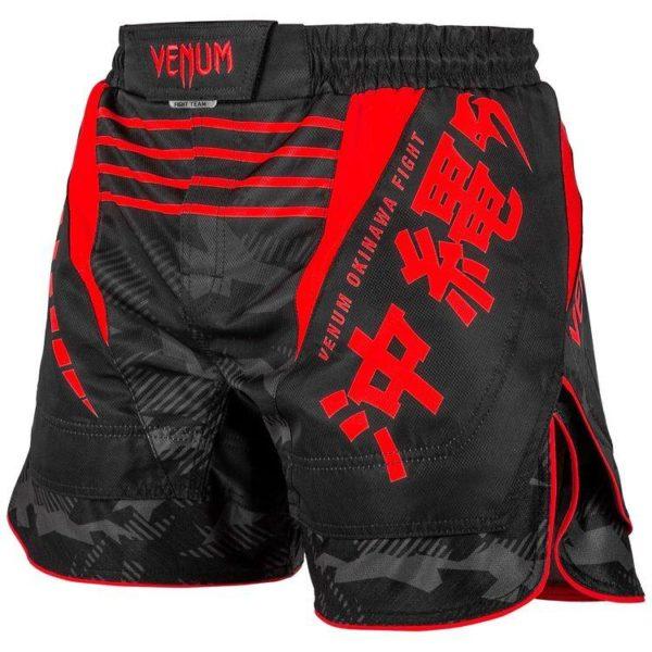 Zwart rood mma fightshort van Venum okinawa 2.0.