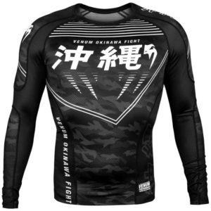 Zwarte rashguard met long sleeves van Venum okinawa 2.0.