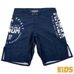 Blauw mma fightshort voor kids van Venum signature.