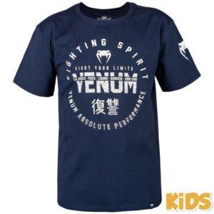Blauw t-shirt voor kids van Venum signature.