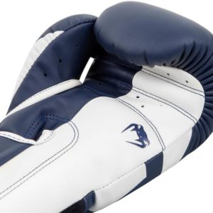 blauw witte (kick)bokshandschoenen van Venum elite