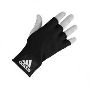 Zwarte binnenhandschoenen van Adidas.