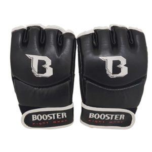 Zwarte mma grappling handschoenen van Booster.