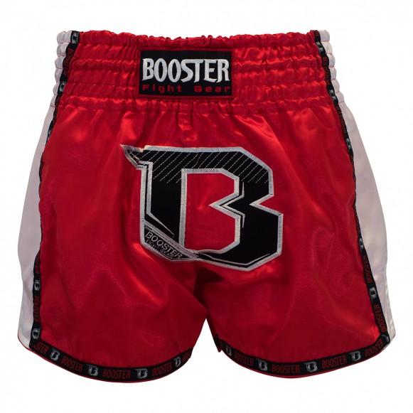 Rode fightshort van Booster tbt-pro.