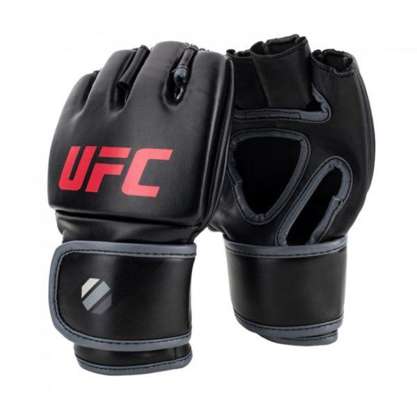 Zwarte mma grappling handschoenen 5oz van UFC contender.