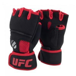 Zwart rode quick wrap binnenhandschoenen met gel van UFC contender.