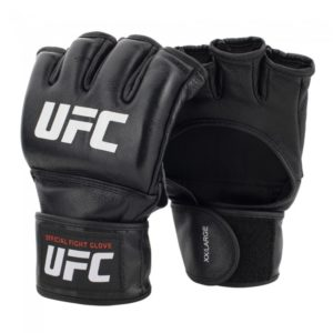 Zwarte officiële mma grappling handschoenen van UFC.