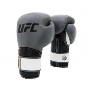 Zwart grijze training (kick)bokshandschoenen van UFC stand up.