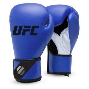 Blauwe training (kick)bokshandschoenen van UFC.