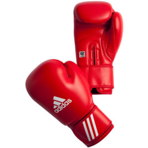 Adidas AIBA bokshandschoenen rood