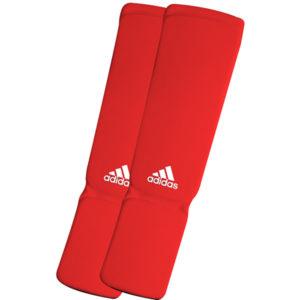 Adidas elastische scheenbeschermers rood