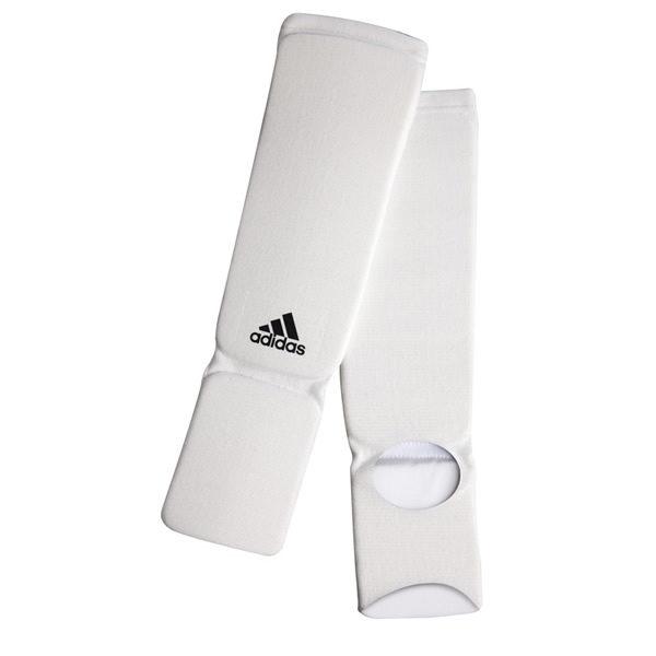 Adidas elastische scheenbeschermers wit