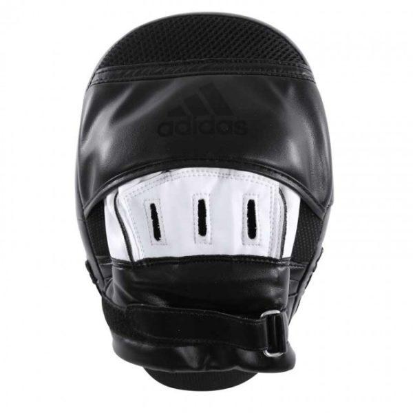Adidas Gebogen Focus Mitts/Handpads Zwart/Wit/Zilver