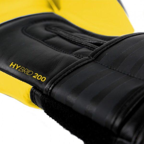 Adidas hybrid 200 (Kick)Bokshandschoenen zwart-geel