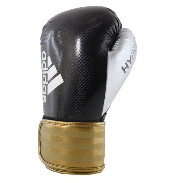 Adidas hybrid 75 (Kick)Bokshandschoenen Zwart/Goud/Zilver