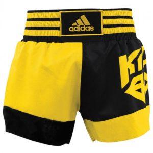 Adidas Kickboksshort SKB02 Zwart/Shock Yellow