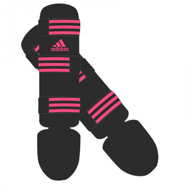 Adidas scheen- en wreefbeschermers Good Zwart-Roze