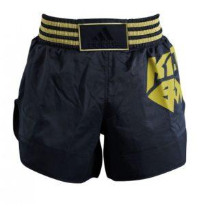 Adidas Thai- en Kickboksshort Micro Diamond Zwart/Goud