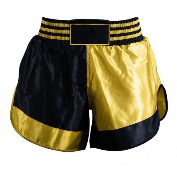 Adidas Thai- en Kickboksshort Zwart/Goud