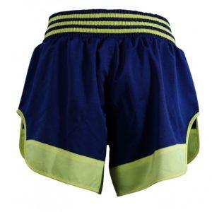 Adidas Thaiboksshort Micro Diamond Geel/Blauw