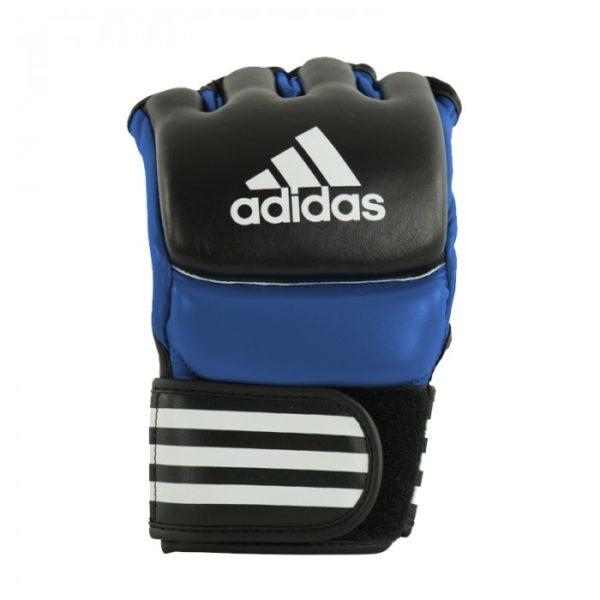 Adidas ultimate MMA handschoenen zwart/blauw