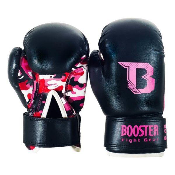 Booster BT Kids (kick)bokshandschoenen Camo Roze