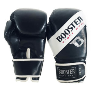 Booster BT sparring white stripe (kick)bokshandschoenen