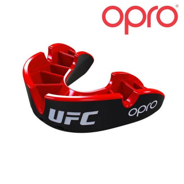Opro Bronze Gebitsbeschermer UFC Zwart/Rood